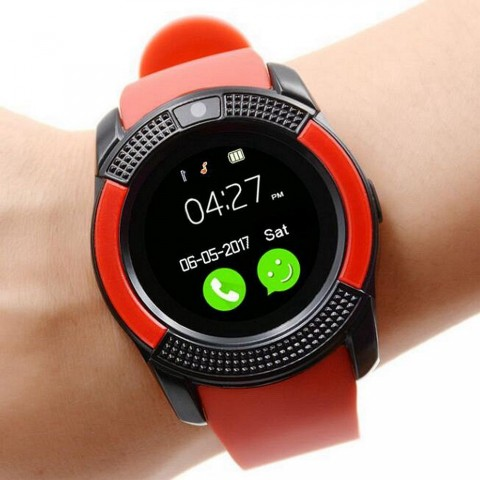 Buy GSM Smart Watch - V8 - Red at Online Shopping Store | Farjazz pk
